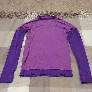 Lululemon two toned purple longsleeve tee size 4